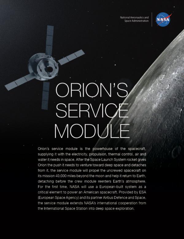 Orion's Service Module